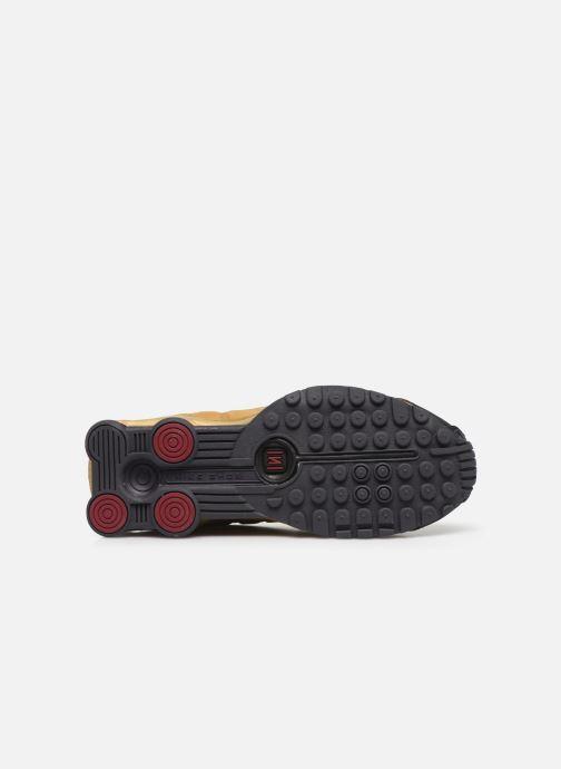 Baskets Nike Nike Shox R4 (Gs) Or et bronze vue haut