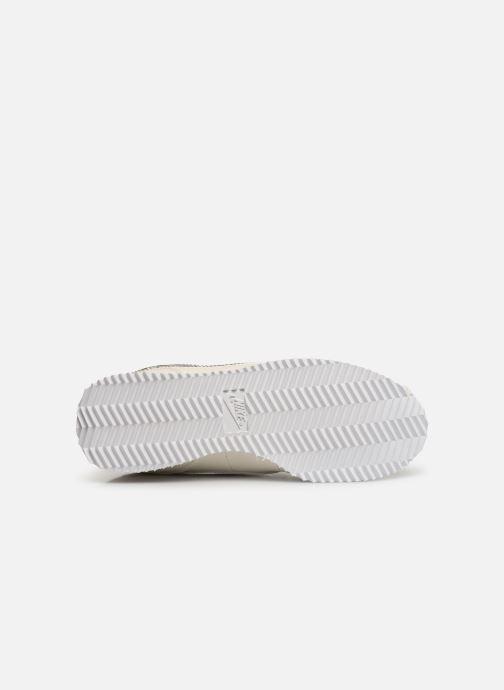 Baskets Nike Cortez Basic Ltr Vf (Gs) Blanc vue haut