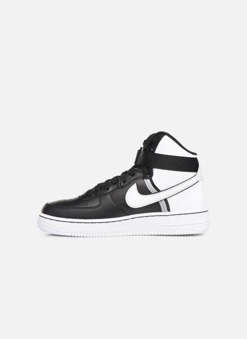 Sneaker Nike Air Force 1 High Lv8 2 (Gs) schwarz ansicht von vorne