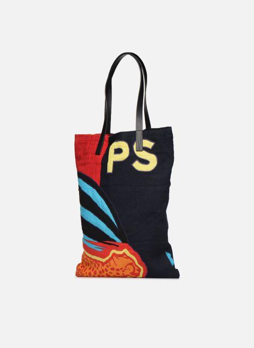 Sacs homme PS Paul Smith TOTE BAG CHEETAH FLAG Multicolore vue portées chaussures