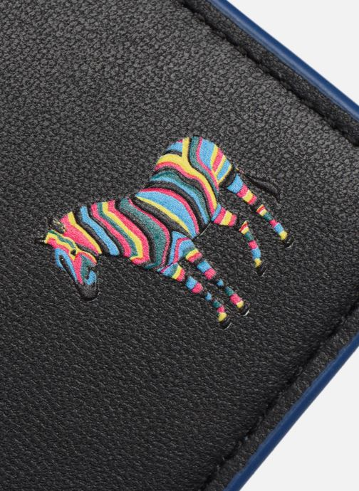 Kleine lederwaren PS Paul Smith MEN WALLET BFLD ZEBRA Zwart achterkant