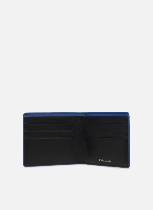 Kleine lederwaren PS Paul Smith MEN WALLET BFLD ZEBRA Zwart links