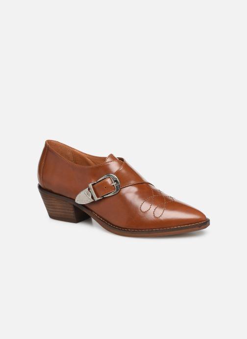 Boots en enkellaarsjes Made by SARENZA Soft Folk Chaussures à Lacets #1 Bruin rechts