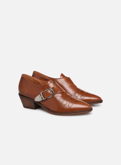 Boots en enkellaarsjes Made by SARENZA Soft Folk Chaussures à Lacets #1 Bruin achterkant