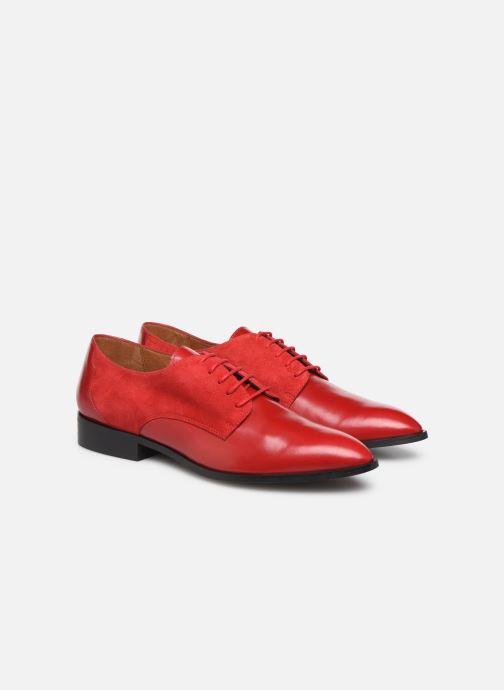 Snøresko Made by SARENZA Soft Folk Chaussures à Lacets #2 Rød se bagfra