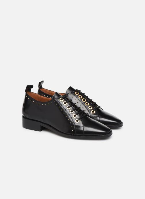 Veterschoenen Made by SARENZA Retro Dandy Chaussures à Lacet #1 Zwart achterkant