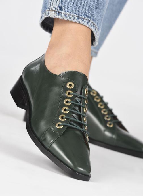 Zapatos con cordones Made by SARENZA Retro Dandy Chaussures à Lacet #1 Verde vista de abajo