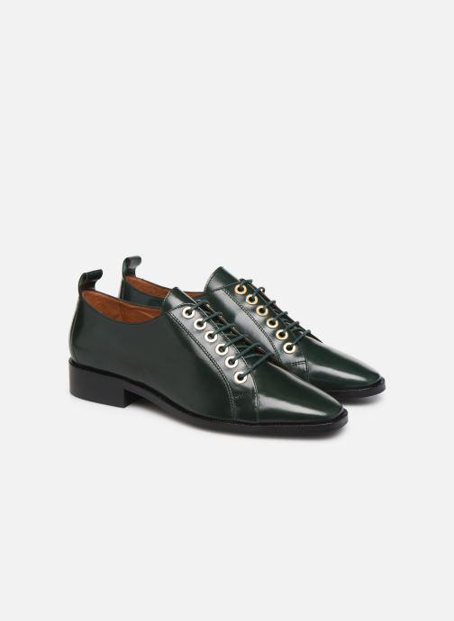 Chaussures à lacets Made by SARENZA Retro Dandy Chaussures à Lacet #1 Vert vue derrière