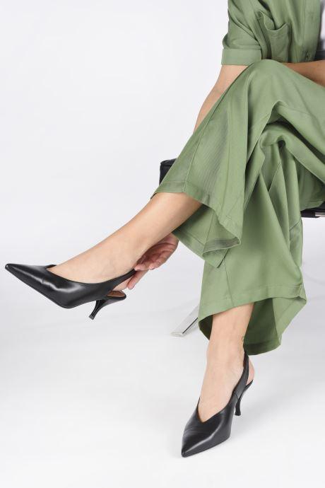 Escarpins Made by SARENZA Riviera Couture Escarpin #3 Noir vue bas / vue portée sac