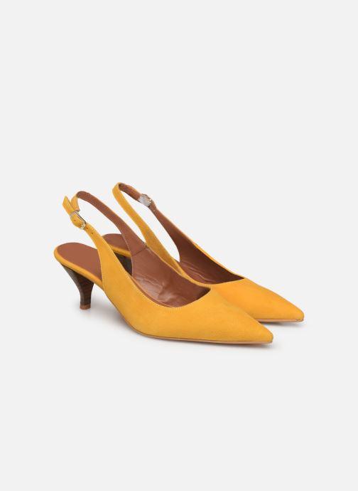 Zapatos de tacón Made by SARENZA Riviera Couture Escarpin #3 Amarillo vistra trasera