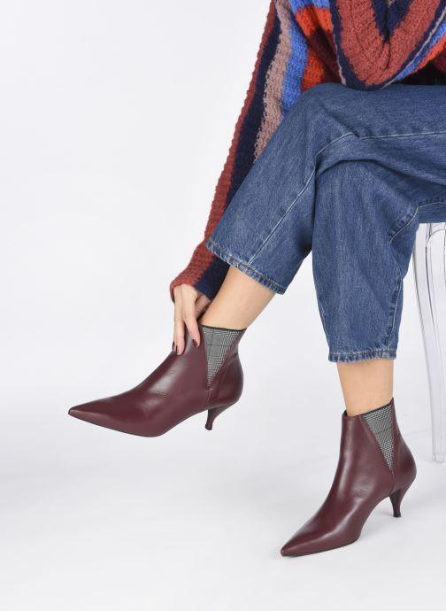 Bottines et boots Made by SARENZA Retro Dandy Boots #8 Bordeaux vue bas / vue portée sac