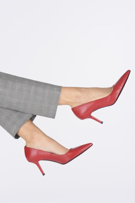 Escarpins Made by SARENZA Retro Dandy Escarpin #3 Rouge vue bas / vue portée sac
