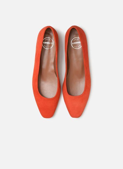 Ballerines Made by SARENZA Retro Dandy Ballerine #1 Orange vue portées chaussures