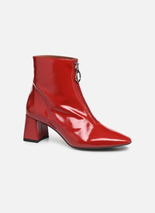 Botines  Made by SARENZA Night Rock boots #1 Rojo vista lateral derecha