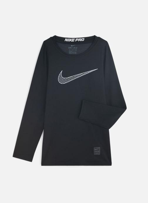 Kleding Nike Nike Pro Top Ls Zwart detail