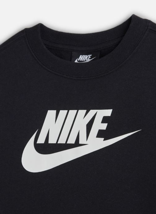 Vêtements Nike Nike Sportswear Ls Crew Club Fleece Noir vue portées chaussures