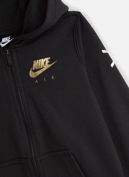 Vêtements Nike Nike Sportswear Nike Air Fleece Full Zip Noir vue portées chaussures