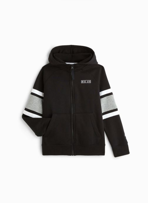 Vêtements Nike Nike Air Hoodie Full Zip Noir vue détail/paire