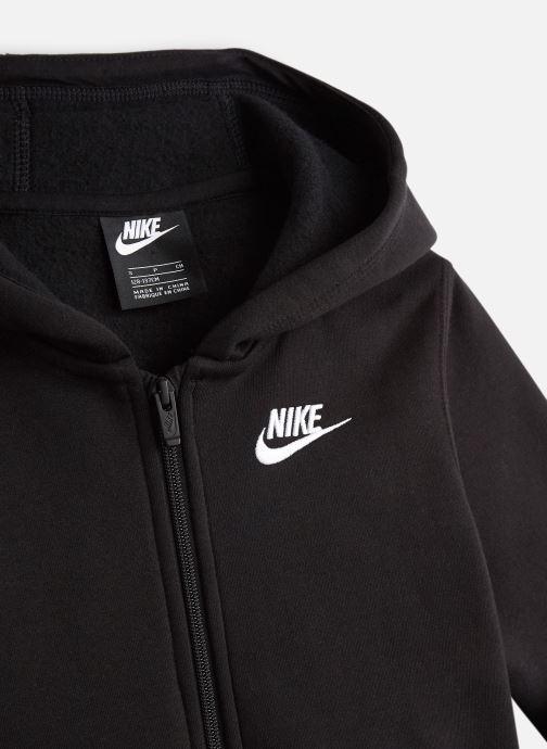 Vêtements Nike Nike Sportswear Hoodie Full Zip Club Noir vue portées chaussures