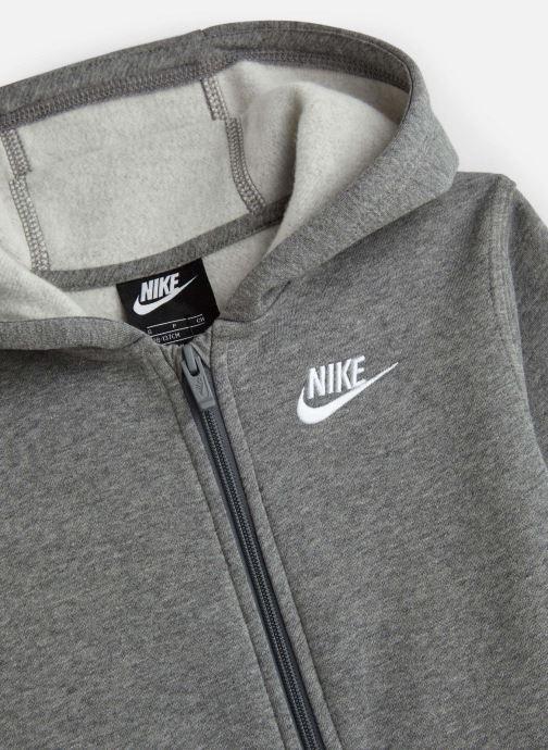 Vêtements Nike Nike Sportswear Hoodie Full Zip Club Gris vue portées chaussures