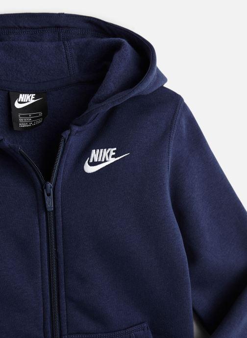Vêtements Nike Nike Sportswear Hoodie Full Zip Club Bleu vue portées chaussures