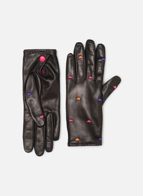 Gants PS Paul Smith WOMEN GLOVE EMB HEART Noir vue détail/paire