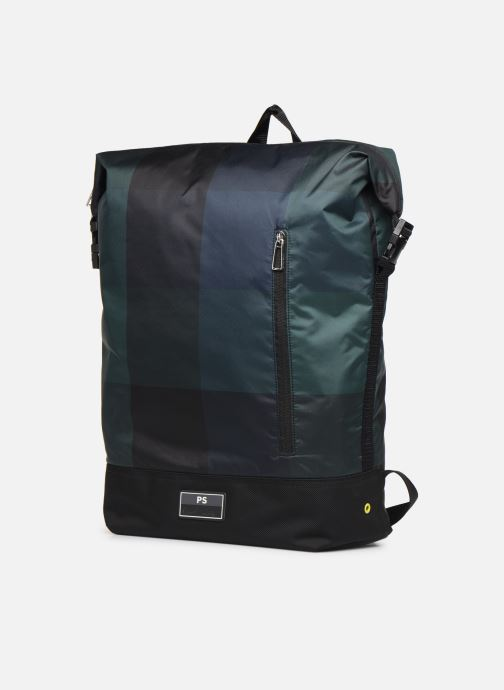 Rucksäcke PS Paul Smith MEN BAG ZIP BKPK CHECK NYL blau schuhe getragen