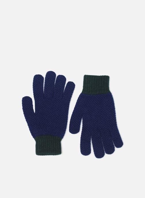 Gants PS Paul Smith MEN GLOVE TEXTURED BLOCK Bleu vue détail/paire