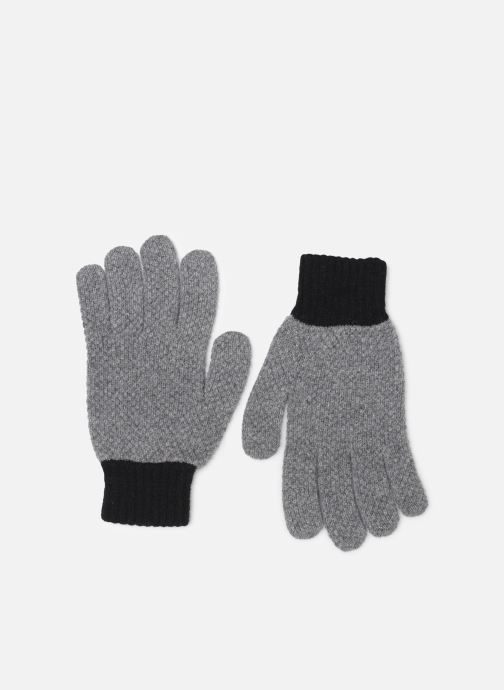 Gants PS Paul Smith MEN GLOVE TEXTURED BLOCK Gris vue détail/paire