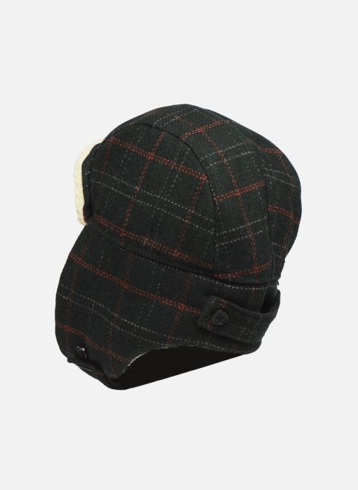 Bonnets PS Paul Smith MEN HAT CHECKED TRAPPER Vert vue face