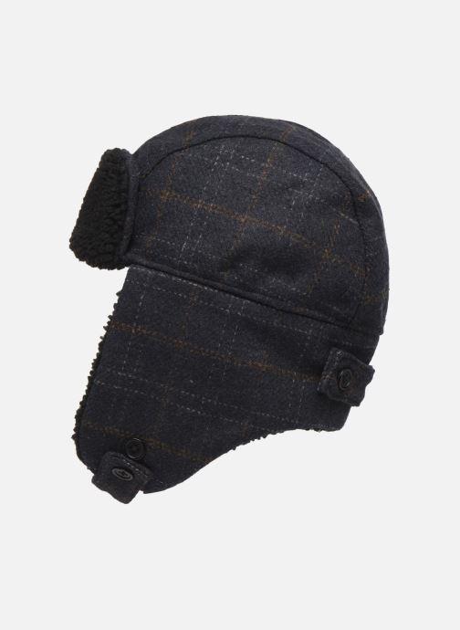 Bonnets PS Paul Smith MEN HAT CHECKED TRAPPER Bleu vue portées chaussures