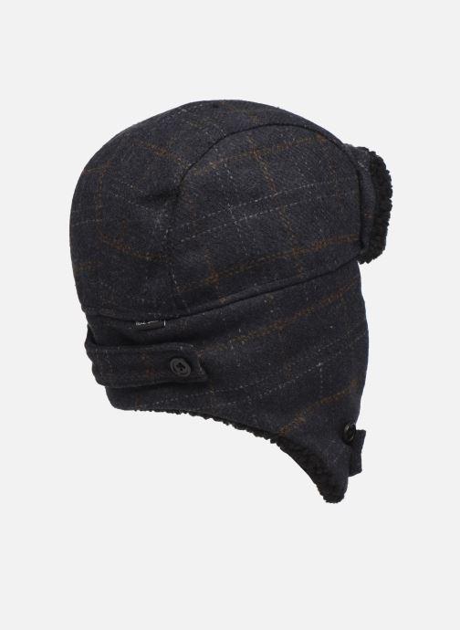 Bonnets PS Paul Smith MEN HAT CHECKED TRAPPER Bleu vue face