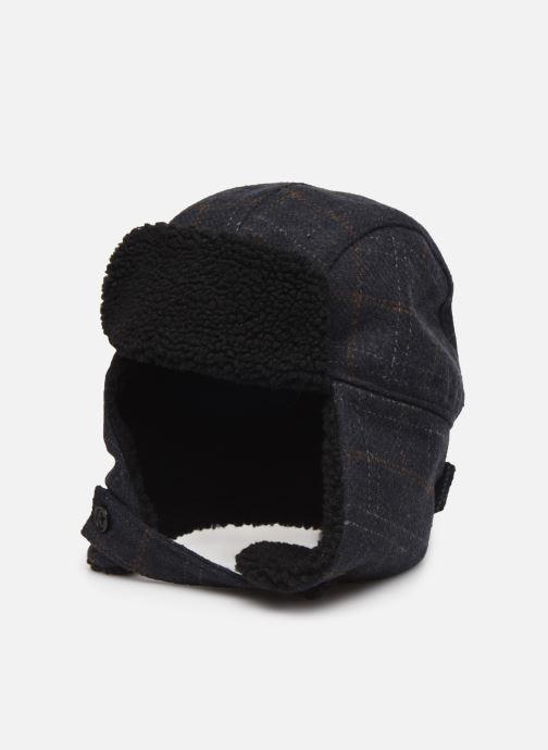 Bonnets PS Paul Smith MEN HAT CHECKED TRAPPER Bleu vue détail/paire