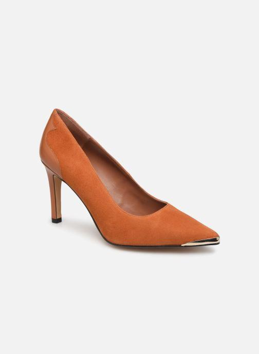 Zapatos de tacón Made by SARENZA Soft Folk Escarpin #3 Marrón vista lateral derecha
