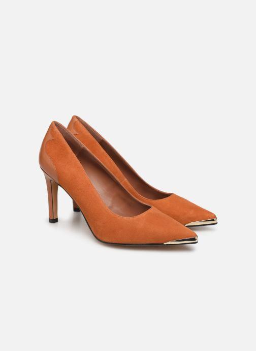 Zapatos de tacón Made by SARENZA Soft Folk Escarpin #3 Marrón vistra trasera