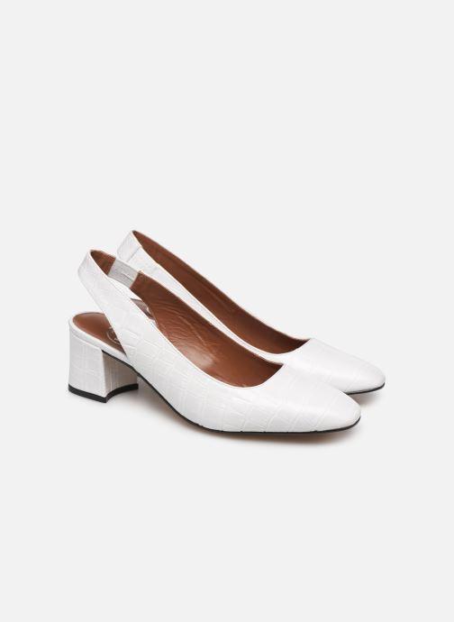 Zapatos de tacón Made by SARENZA Retro Dandy Escarpin #2 Blanco vistra trasera