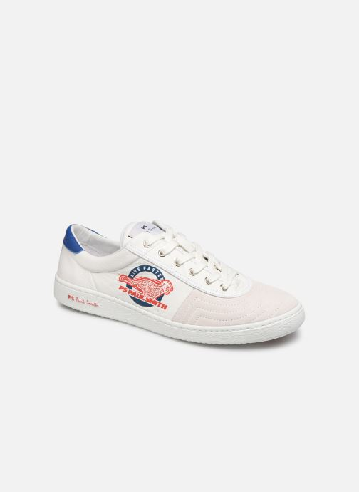 Baskets PS Paul Smith Lockie Blanc vue détail/paire