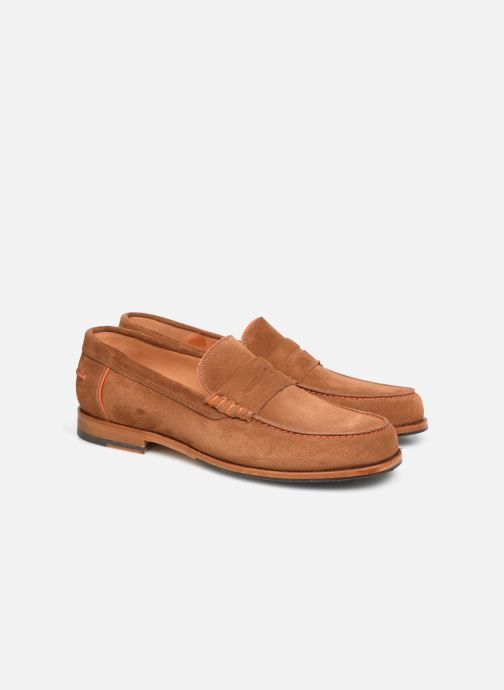 Mocassins PS Paul Smith Teddy Marron vue 3/4
