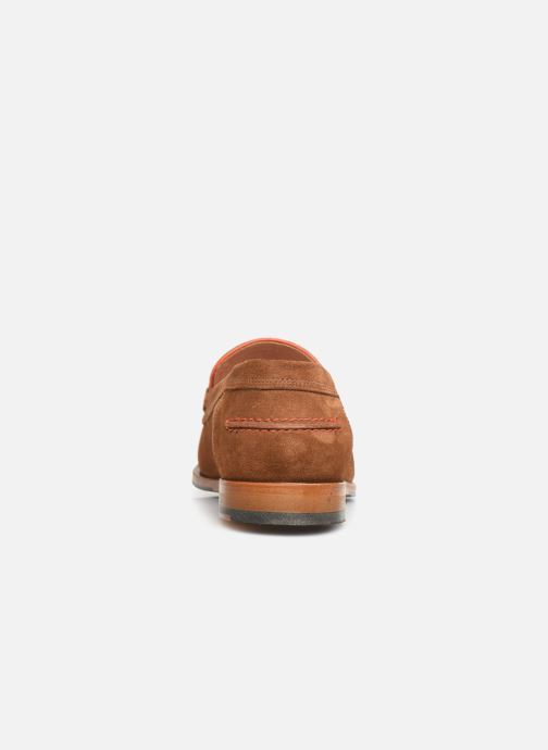 Mocassins PS Paul Smith Teddy Marron vue droite