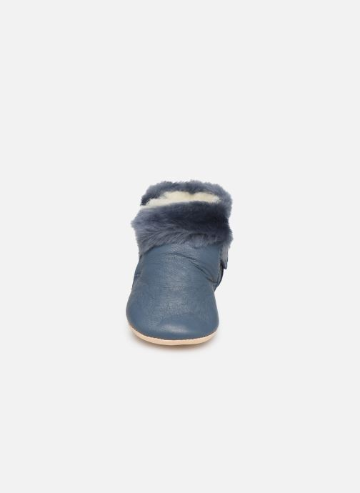 Chaussons Easy Peasy Foumoo Bleu vue portées chaussures