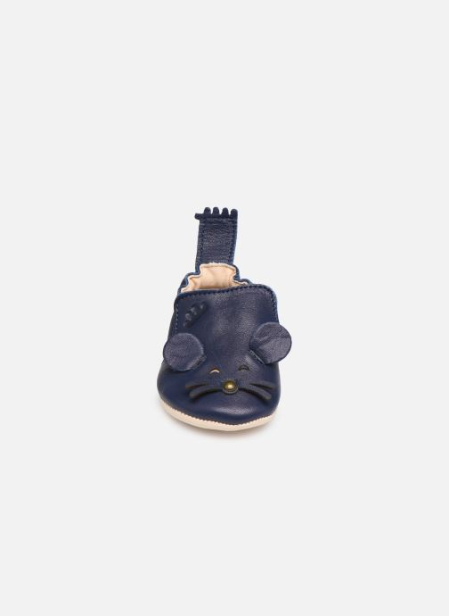 Chaussons Easy Peasy Blumoo Mouse Bleu vue portées chaussures