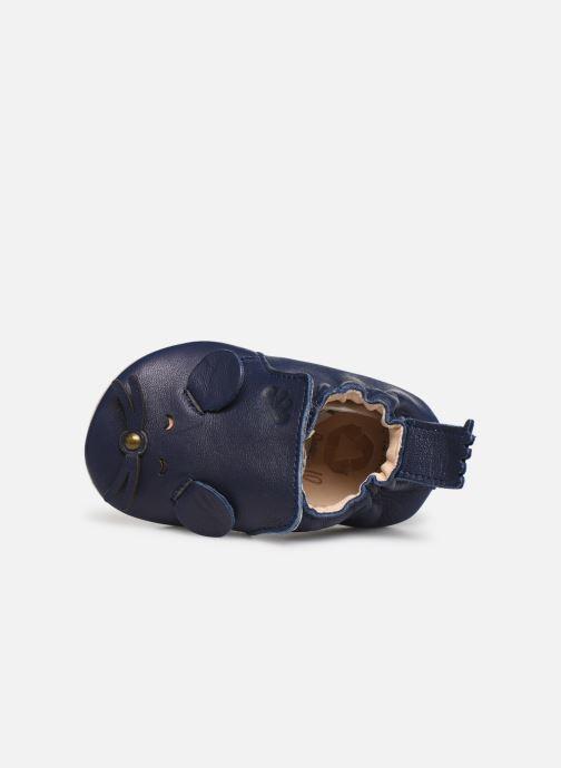 Pantuflas Easy Peasy Blumoo Mouse Azul vista lateral izquierda