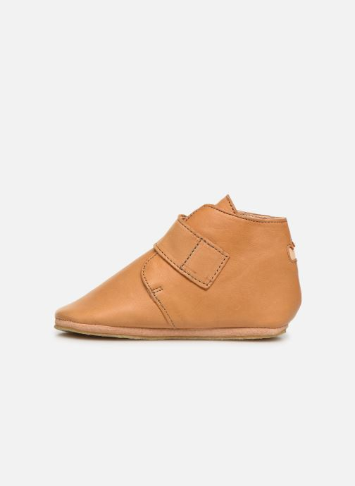 Chaussons Easy Peasy Kiny Uni Marron vue face