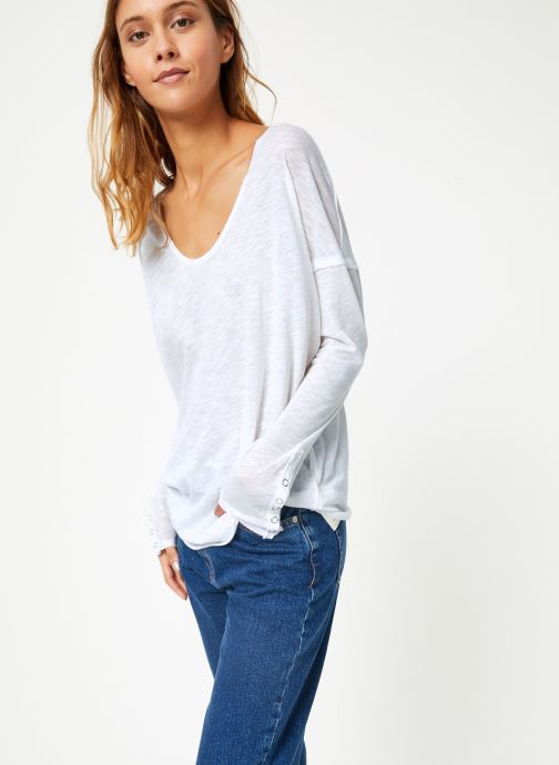 Vêtements Free People SIENNA TEE Blanc vue droite