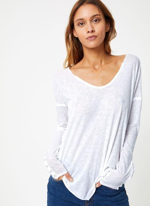 Vêtements Free People SIENNA TEE Blanc vue détail/paire