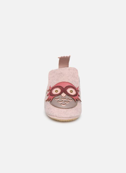 Chaussons Easy Peasy Doublu Hiboo Rose vue portées chaussures