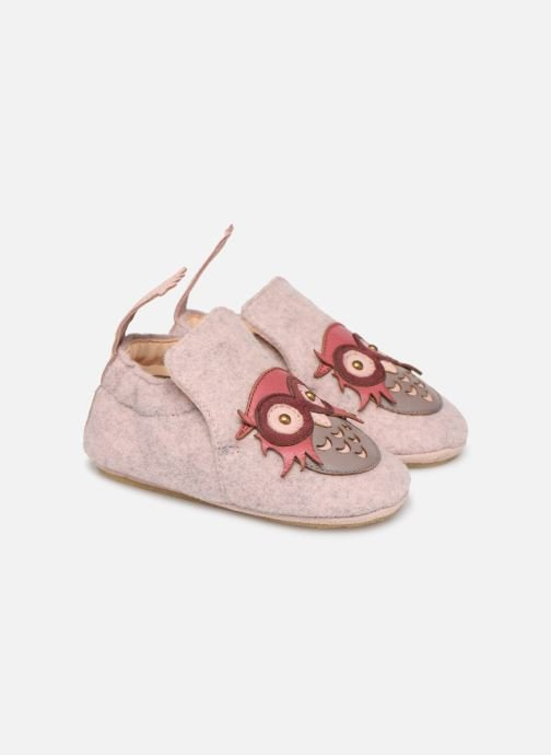 Chaussons Easy Peasy Doublu Hiboo Rose vue détail/paire