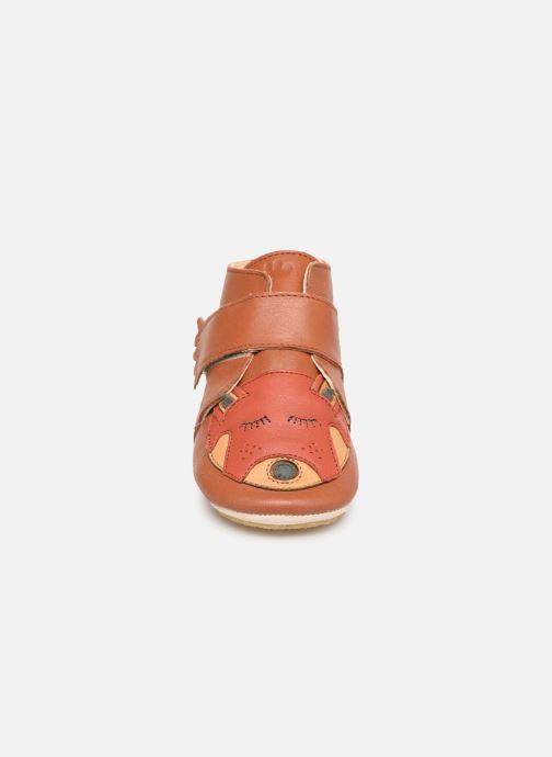 Chaussons Easy Peasy Kiny Ptpanda Marron vue portées chaussures