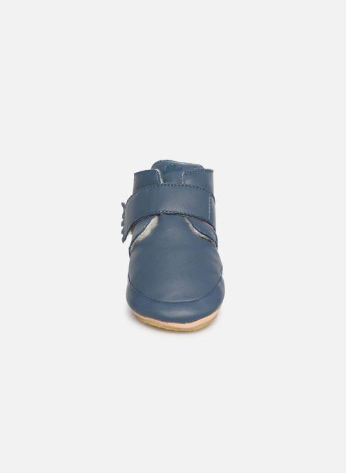 Pantofole Easy Peasy Winterblu Azzurro modello indossato