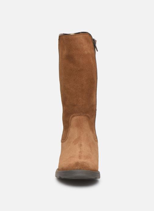 Bottes I Love Shoes BONNIE LEATHER Marron vue portées chaussures